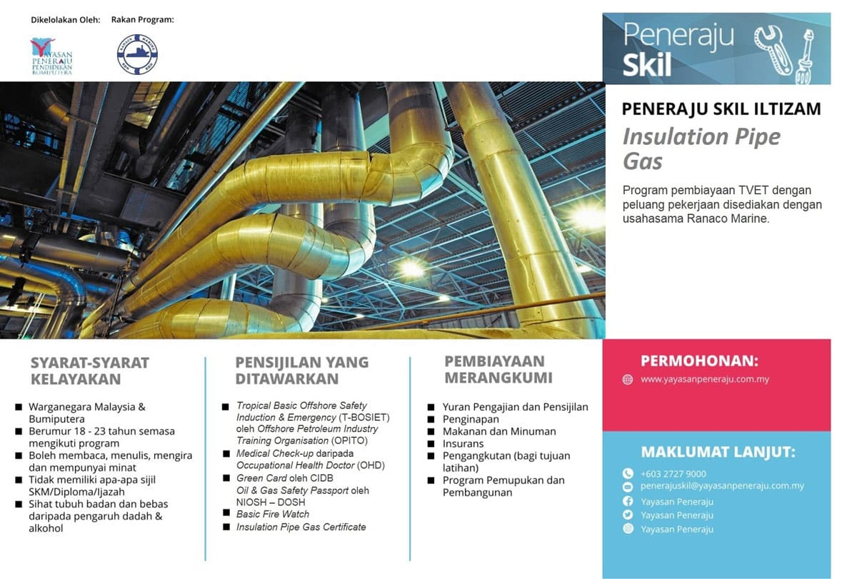 Peneraju Skil Iltizam Insulation Pipe Gas