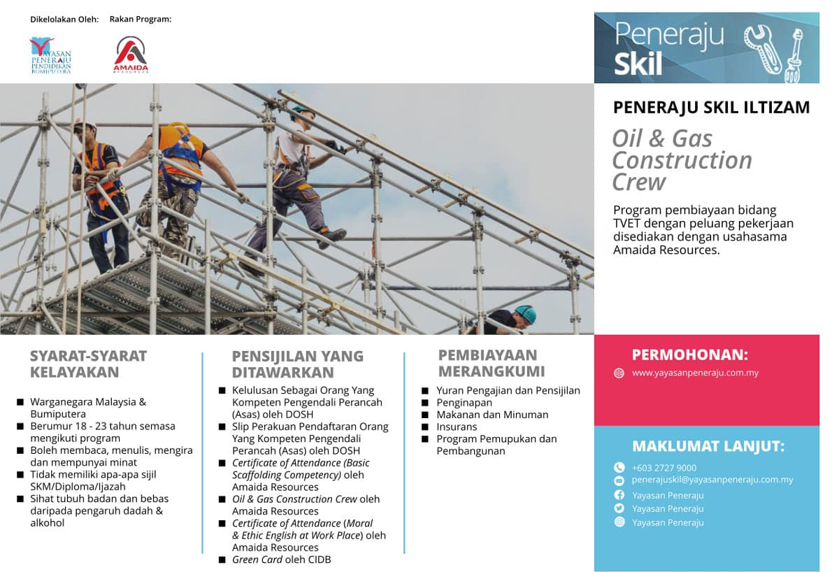 Peneraju Skil Iltizam Oil & Gas Construction Crew