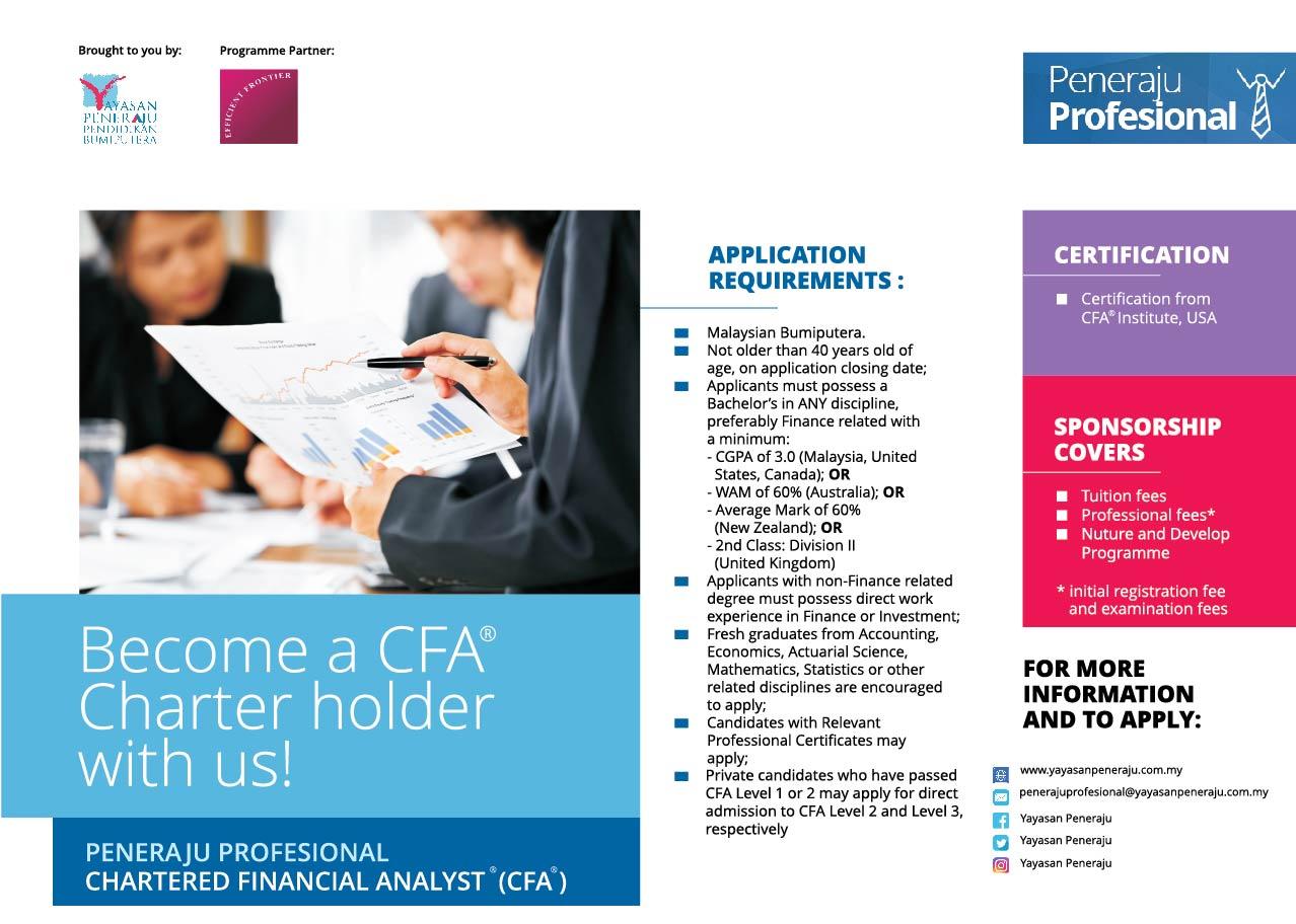 Peneraju Profesional Chartered Financial Analyst® (CFA®)